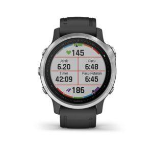 Garmin fenix 6 Silver with Black Band-garmin surabaya (1)