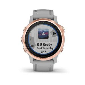 Garmin fenix 6s Sapphire - Rose Gold-tone with Powder Gray Band (1)