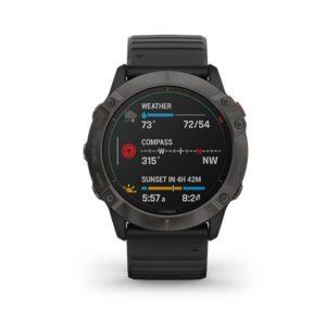 garmin fenix 6X Pro Solar - Titanium Carbon Gray DLC with Black Band (1)