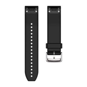 strap garmin original-garmin band surabaya-quickfit 22 strap watch black silver