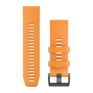 strap garmin original-garmin watch band-quck fit 26 solar orange1