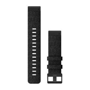 QuickFit® 22 Watch Bands Heathered Black Nylon 1